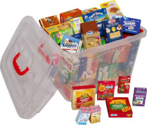 Kaufladen-Starterbox mit 50 Lebensmitteln, ab 3 Jahren