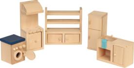 Beluga Spielwaren Puppenhausmöbel Küche, 5-teilig