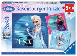 Ravensburger 09269 Puzzle Disney Die Eiskönigin - Elsa, Anna & Olaf 3 x 49 T.